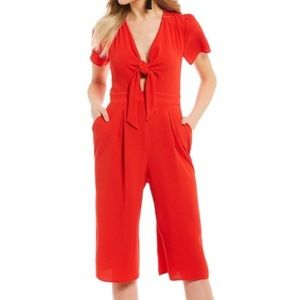 Gianni Bini red keyhole cropped jumpsuit